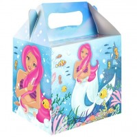 Meerjungfrau Party Geschenkbox 14cm
