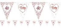 Guirnalda de bandera del 40 aniversario de boda 3.7m