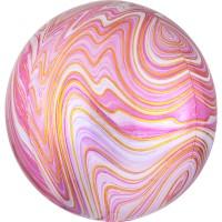 Marblez Orbz Ballon pink 38 x 40cm