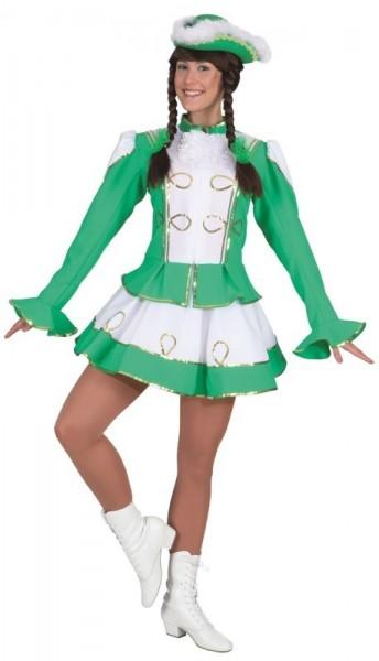 Tanzmariechen Damenkostüm Grün