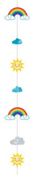 Rainbow balloon pendant 1,8m