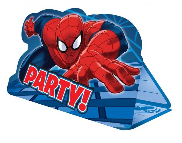 8 Spiderman On A Mission Einladungskarten