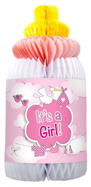 Paper decoration Adebar Its A Girl baby bottle