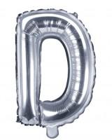 Folienballon D silber 35cm