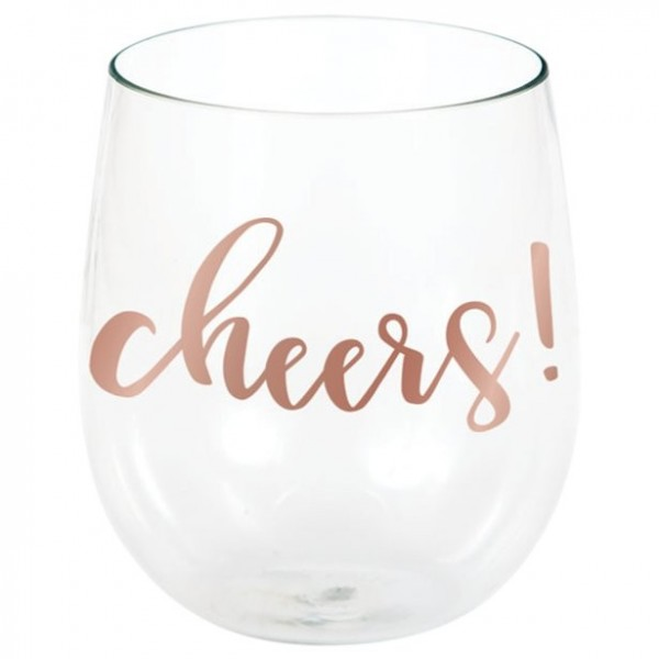 Cheers plastic wine glass 398ml
