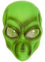 Außerirdische Alien Maske Grün