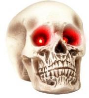 Watch Out Totenkopf Mit Rot Glühenden Augen 22cm