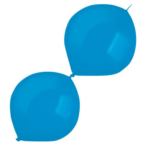 50 Girlandenballons royalblau 30cm
