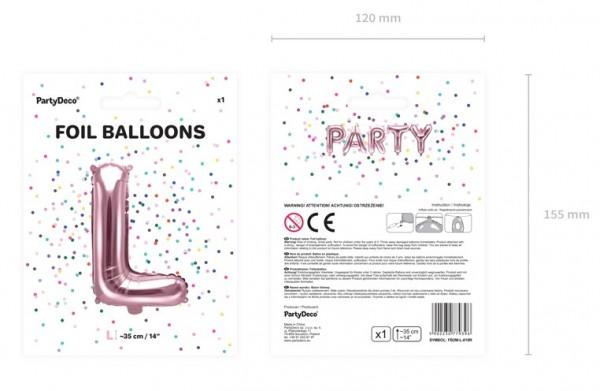 Folienballon L roségold 35cm 3