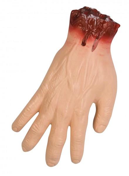 Abgehackte Blutige Hand Vom Nachbarn