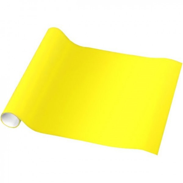 Papier d'emballage jaune uni 1.5m