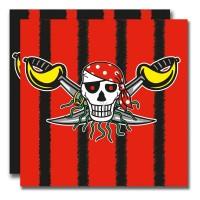 20 Sebastian Säbel Piraten Servietten 33cm
