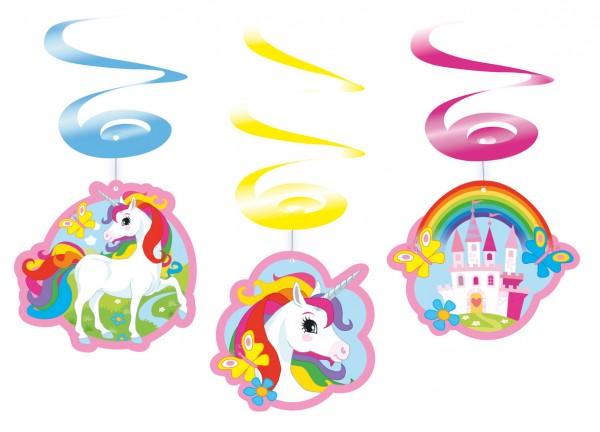 Zauberhafte Einhorn Rainbow Sparkle Wirbel Hängedekoration