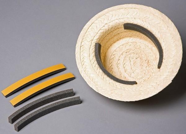 4 selbstklebende Huteinlagen aus Schaumstoff