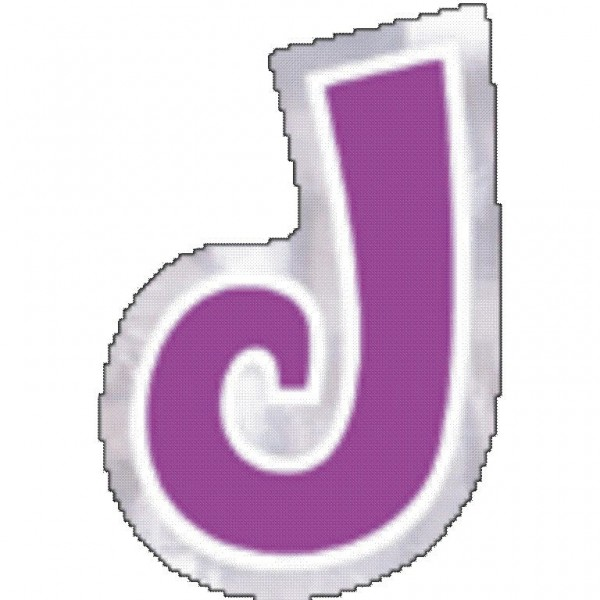 48 balloon stickers letter J