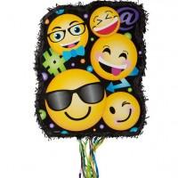 Zug-Pinata smiling Emojis 45cm