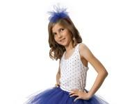Blauer Tüll Haarreif Marina