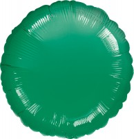 Runder Folienballon dunkelgrün 45cm