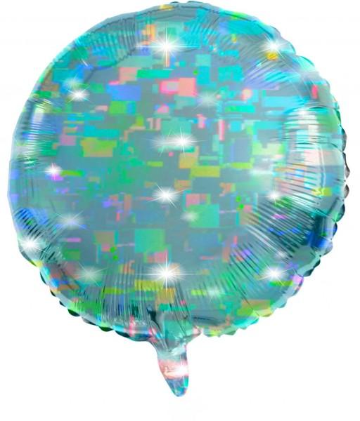 Runder Folienballon aqua 61cm