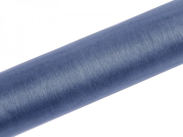 Tela de organza Julie azul oscuro 9m x 16cm