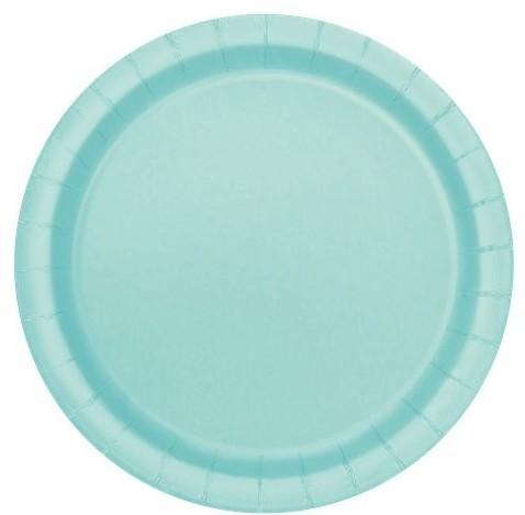 20 assiettes en papier turquoise menthe Graz 17cm