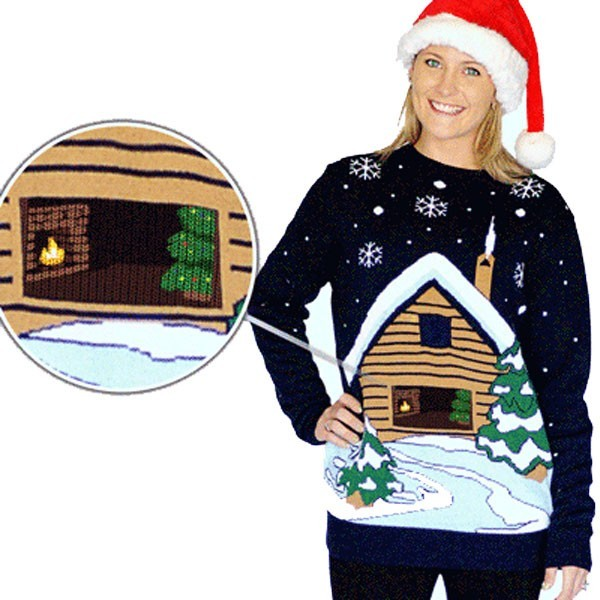 Jersey navideño con efecto especial para mujer