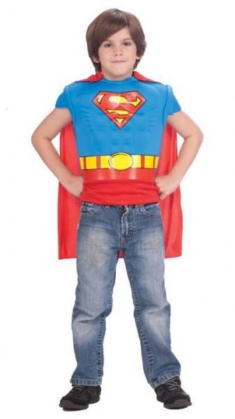 Superman Muskel Shirt Mit Cape Für Kinder