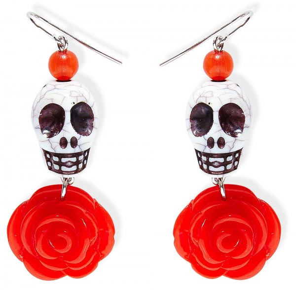 Day Of The Dead Oorbellen Rosy