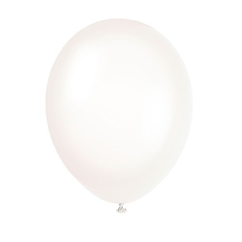 Set of 10 latex balloons transparent 30cm