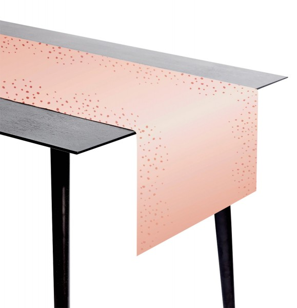 Chemin de table Elegant blush or rose 2,4 x 0,4 m