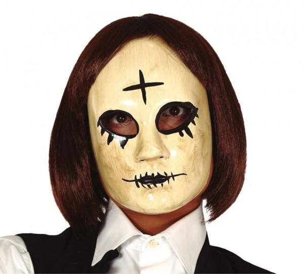 Horrormasker met kruis