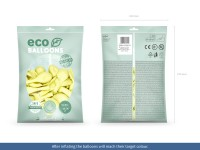 100 Eco Pastell Ballons creme 26cm