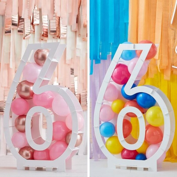 Soporte inflable para globos número 6