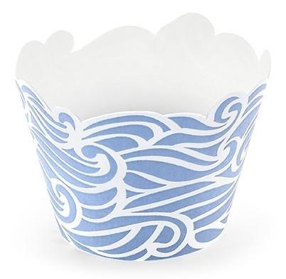 6 caisses à cupcakes maritimes Ahoy