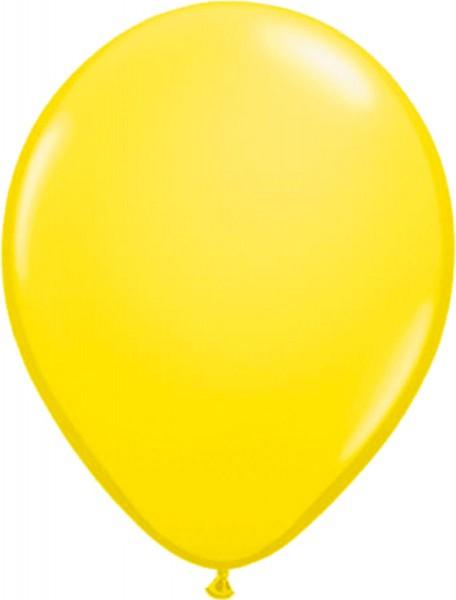 10 globos de látex Stani amarillo 30cm