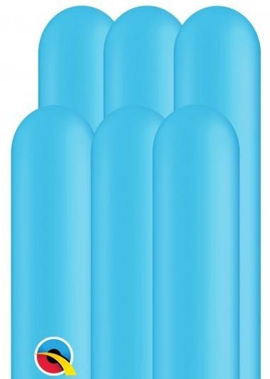 100 Modellierballons 260Q azurblau 1,5m