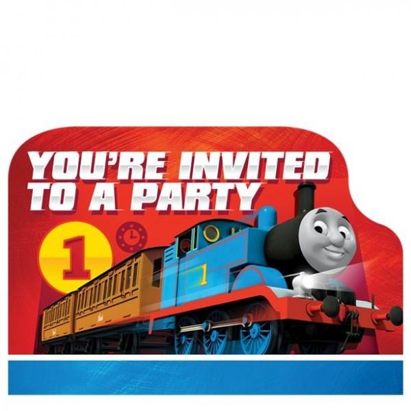 8 Thomas die Lokomotive Einladungskarten