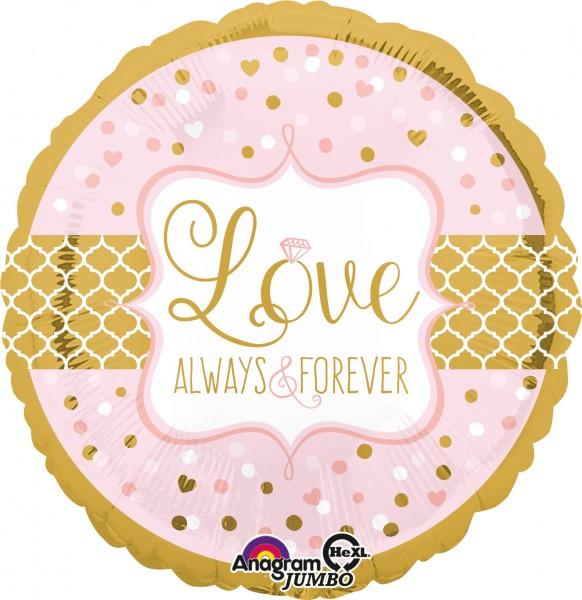 Love always and forever Ballon 71cm