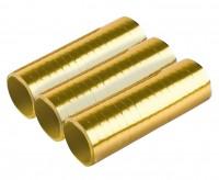 3 Shiny Gold Luftschlangen 4m