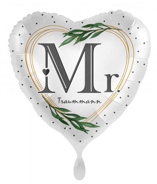 Herz Folienballon Traummann 45cm
