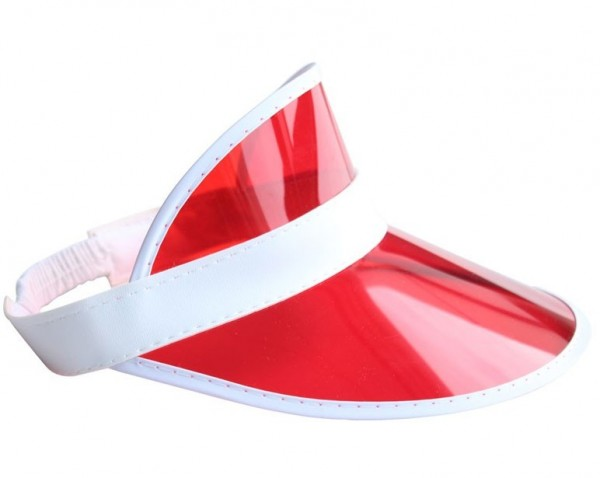 Rote Sonnenvisier Kappe
