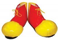 XXL Clown-Schuhüberzieher Rot-Gelb