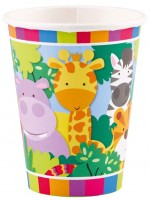 8 Safari Party Pappbecher 266ml
