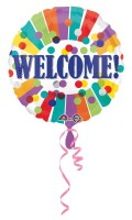 Folienballon Kunterbunte Welcome Party