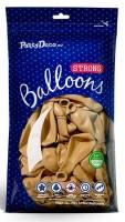 Vorschau: 100 Partystar metallic Ballons gold 30cm