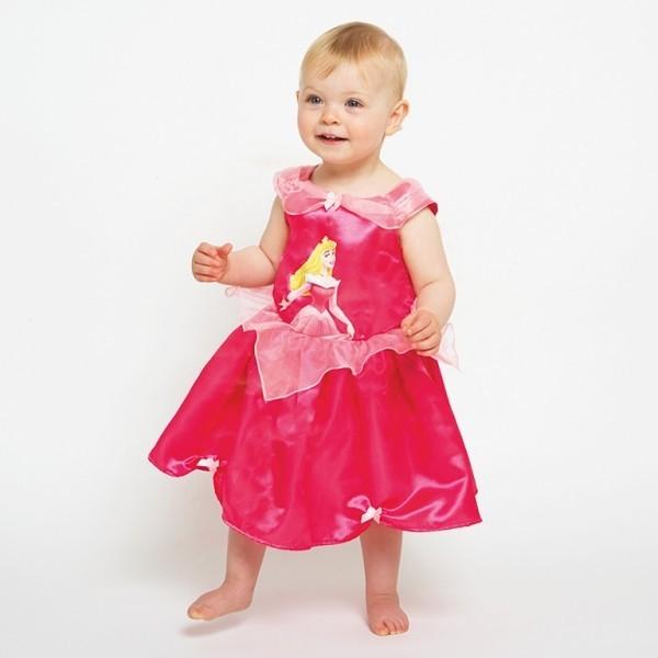 Pinkes Dornröschen Prinzessinenkleid für Babies