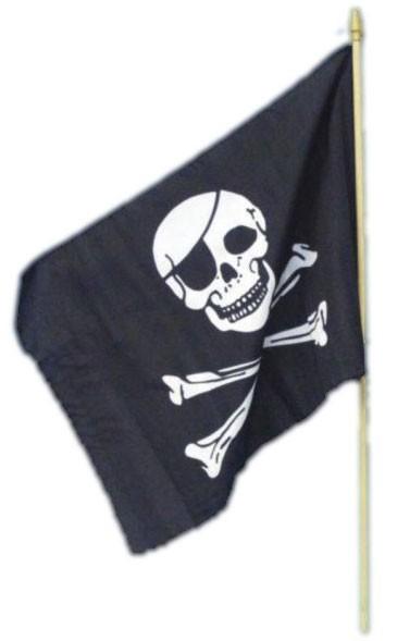 Bandiera pirata teschio e ossa incrociate 45 x 30 cm