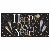 Sparkling New Year Banner 1,65m