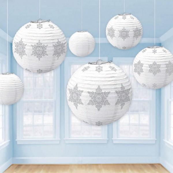 6 snowflake festival lanterns