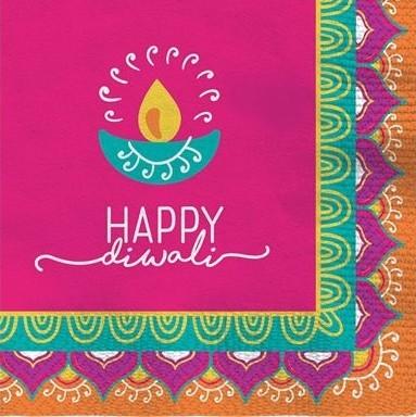 16 Happy Diwali Servetten 25cm